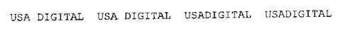 USA DIGITAL USA DIGITAL USADIGITAL USADIGITAL