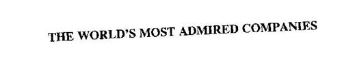 THE WORLD' S MOST ADMIRED COMPANIES