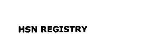 HSN REGISTRY