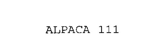 ALPACA 111