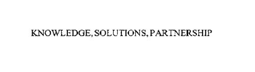 KNOWLEDGE, SOLUTIONS, PARTNERSHIP