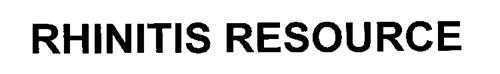 RHINITIS RESOURCE