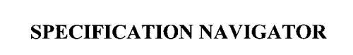 SPECIFICATION NAVIGATOR