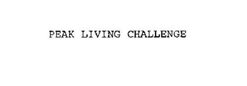 PEAK LIVING CHALLENGE