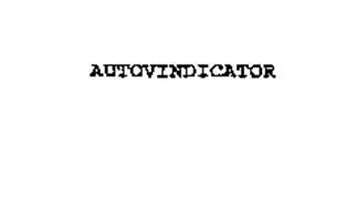 AUTOVINDICATOR