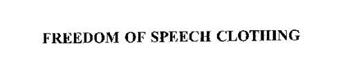 FREEDOM OF SPEECH CLOTHING