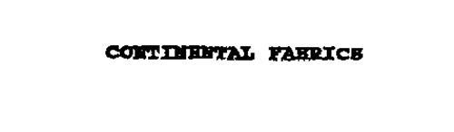 CONTINENTAL FABRICS