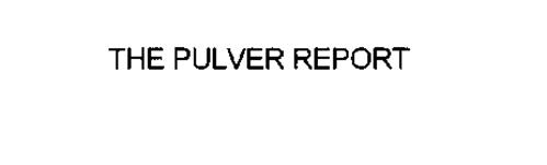 THE PULVER REPORT