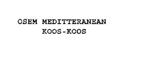 OSEM MEDITERRANEAN KOOS-KOOS