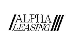 ALPHA LEASING