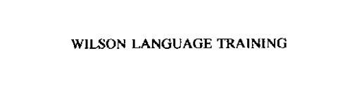 WILSON LANGUAGE TRAINING