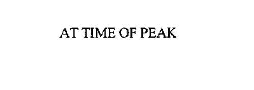 AT TIME OF PEAK
