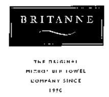 BRITANNE THE ORIGINAL MICROFIBER TOWEL COMPANY SINCE 1990