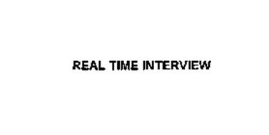 REAL TIME INTERVIEW