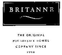 BRITANNE THE ORIGINAL MICROFIBER TOWEL COMPANY SINCE 1990