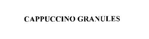 CAPPUCCINO GRANULES