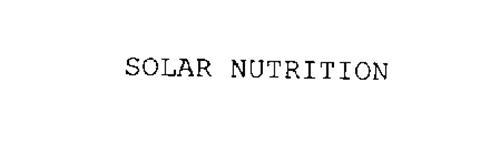 SOLAR NUTRITION