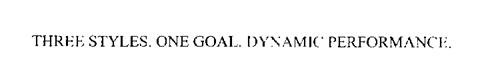 THREE STYLES. ONE GOAL. DYNAMIC PERFORMANCE.