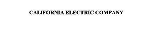 CALIFORNIA ELECTRIC COMPANY