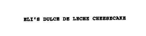 ELI'S DULCE DE LECHE CHEESECAKE