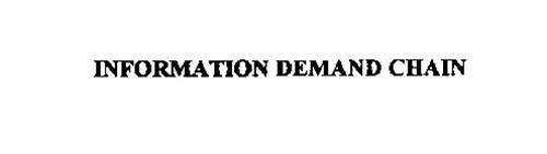 INFORMATION DEMAND CHAIN