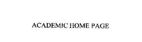 ACADEMIC HOME PAGE