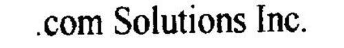 .COM SOLUTIONS INC.