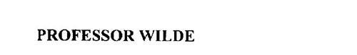 PROFESSOR WILDE'S