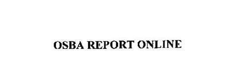 OSBA REPORT ONLINE