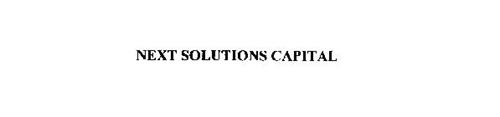 NEXT SOLUTIONS CAPITAL