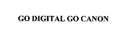 GO DIGITAL GO CANON