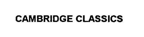 CAMBRIDGE CLASSICS