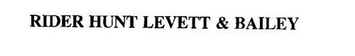 RIDER HUNT LEVETT & BAILEY
