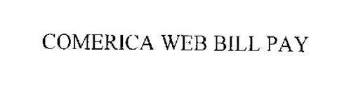 COMERICA WEB BILL PAY