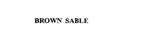 BROWN SABLE
