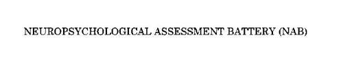NAB NEUROPSYCHOLOGICAL ASSESSMENT BATTERY