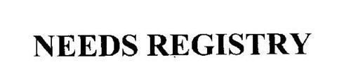 NEEDS REGISTRY