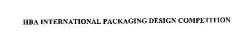 HBA INTERNATIONAL PACKAGING DESIGN COMPETITION