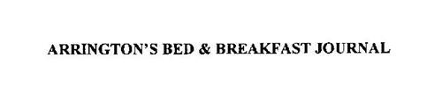 ARRINGTON'S BED & BREAKFAST JOURNAL