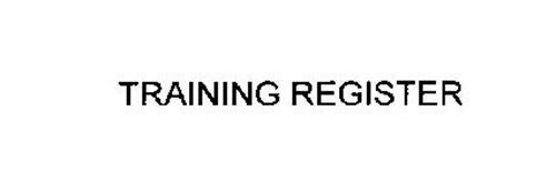 TRAINING REGISTER