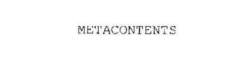 METACONTENTS