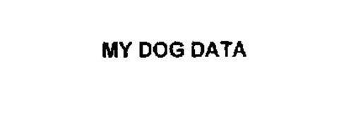 MY DOG DATA