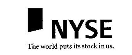 NYSE THE WORLD PUTS ITS STOCK IN US.