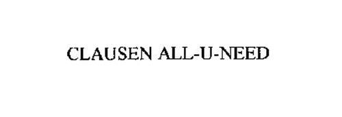 CLAUSEN ALL-U-NEED