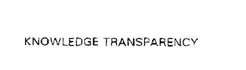 KNOWLEDGE TRANSPARENCY