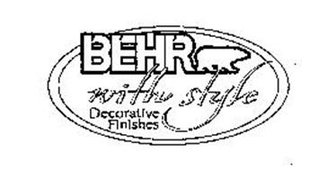 BEHR WITH STYLE DECORATIVE FINISHES