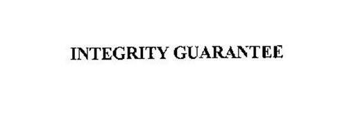 INTEGRITY GUARANTEE