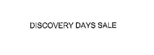 DISCOVERY DAYS SALE