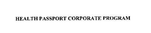 HEALTH PASSPORT CORPORATE PROGRAM