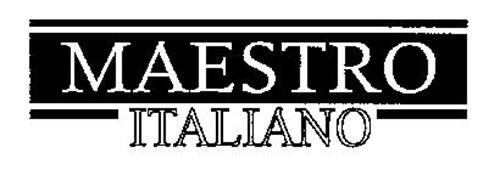 MAESTRO ITALIANO